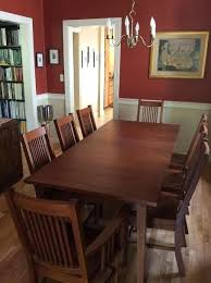 mission style dining table plans craftsman room furniture set