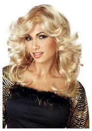 halloween blonde wigs disco mama wig