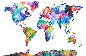 Map Of The World Poster by Colorful World Map Poster Hd Nature Wallpaper