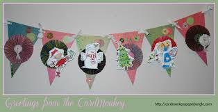 cardmonkey u0027s paper jungle day 2 christmas banners for special