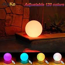 floating pool ball lights amazon com aoske 9 5 inch floating waterproof led pool light orb