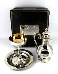 communion kits pristine antique solid silver communion set in original