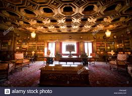 the library at hearst castle stock photo royalty free image