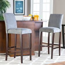 bar stools stacked kitchen cabinets kenmore electric range gloss