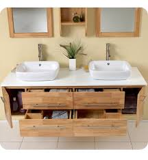 59 Bathroom Vanity by 59 U201d Fresca Bellezza Fvn6119nw Natural Wood Modern Double Vessel