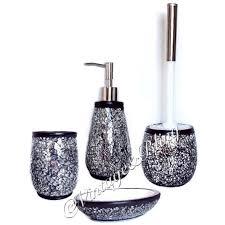 black crackle bathroom accessories my web value