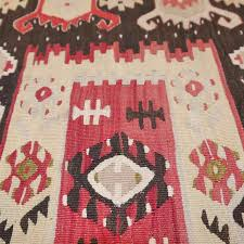 Red Patterned Rug Traditional Rug Patterned Wool Rectangular Sharkoy Art