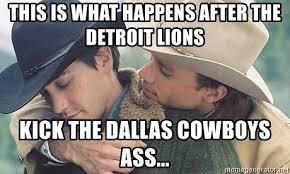 Dallas Cowboys Meme Generator - this is what happens after the detroit lions kick the dallas