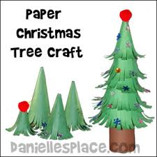christmas crafts for kids paper christmas tree craft for kids