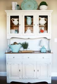 baffling white buffet and hutch