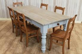 Handmade Kitchen Table Large 10ft Handmade White Washed Rustic Pine Kitchen Table Dining