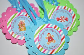 gingerbread birthday favor tags winter birthday party