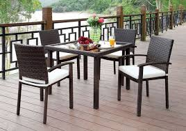 5 Pc Patio Dining Set Cm Ot1852 Outdoor Patio Dining Set Furniture Of America