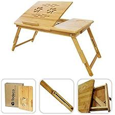 Folding Bed Desk Amazon Com Todeco Portable Notebook Table Foldable Bed Tray