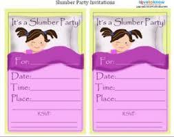 slumber invitations