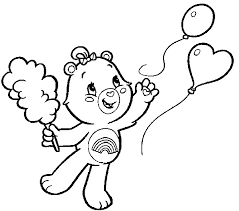 care bears coloring pages cheer bear coloring