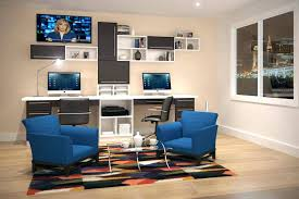 Built In Desk Ideas For Home Office Dual Desk Home Office House Plans With Office Home Office With Two