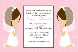 communion invitation personalised communion invitations girl
