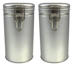 latching tea tin tea canister airtight tea container spice