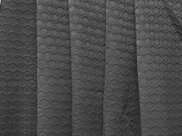 dark graphite geometric hexagon curtain fabric by the yard