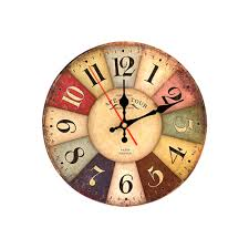 Wooden Wall Clock Online Get Cheap Rustic Wood Wall Decor Aliexpress Com Alibaba