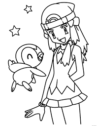 pokemon piplup coloring pages free learn language