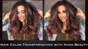 hair cor for 66 year old women hair color transformation with huda beauty youtube