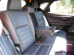 lexus nx interior back seat 2015 lexus nx200t f sport awd review