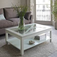 Glass Coffee Table Decor Furniture Breathtaking White Wood Coffee Table Ideas Rectangle