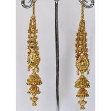 jhumka earrings with chain wedding golden jhumka chain earring smc bazaar