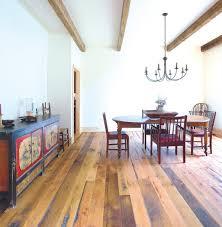 multi width engineered wood floor dining room rustic with