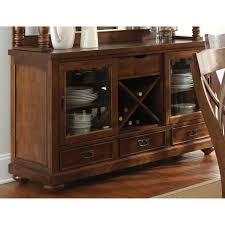 wyndham buffet table glass doors drawers tobacco finish dcg