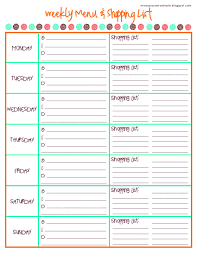 Grocery Shopping List Template Weekly Meal Planner Template Word Best Templates