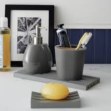 manificent ideas gray bathroom accessories set 15 trendy modern