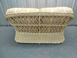 furniture wicker loveseat with tray for cozy patio furniture ideas