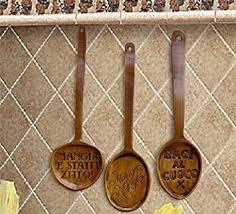 amazon com italian kitchen decor decorative spoons set of 3