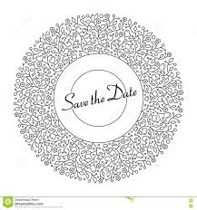 ornamental round floral pattern for wedding invitations and gree
