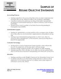 Entry Level Resume Objective Examples by Job Resume Objective Samples Resume Peppapp