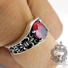 gothic rings men images Rings gothic rings men 39 s ring gothic red ruby fleur de lis jpg