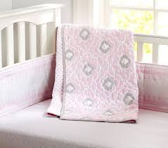 Pink And Gray Crib Bedding Sets Baby Bedding Set Pottery Barn