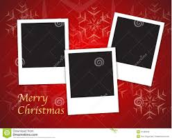 christmas card templates with blank photo frames royalty free
