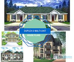 Multi Unit House Plans The Finest Duplex Town House And Multi Unit Home Plans