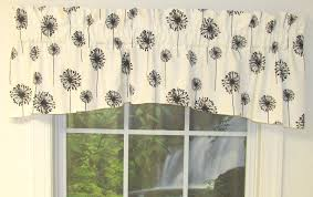 compact black and white toile valance 52 black and white toile