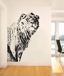 Full Wall Stickers For Bedrooms Vinyl Wall Decal Sticker Big Lion From Stickerbrand