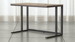 Crate And Barrel Sideboard Pilsen Graphite Desk With Walnut Top Crate And Barrel