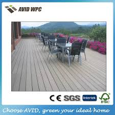 prefab home white antiseptic wood plastic composite decking
