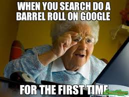 Barrel Roll Meme - when you search do a barrel roll on google for the first time meme