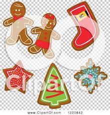 clipart of gingerbread christmas cookies royalty free vector
