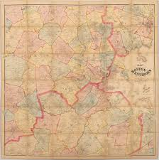 Maps Boston Henry F Walling Map Of The Greater Boston Area Rare U0026 Antique Maps