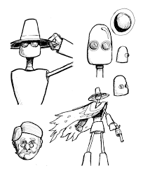 robot sketches by thatrick on deviantart